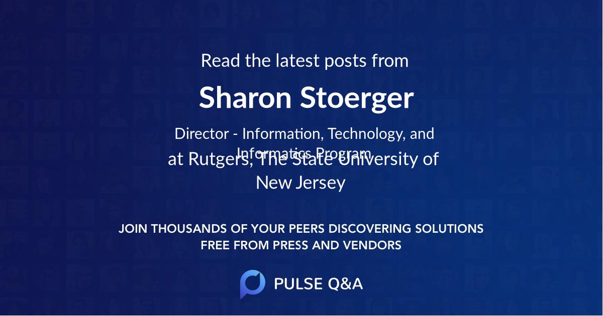 Sharon Stoerger