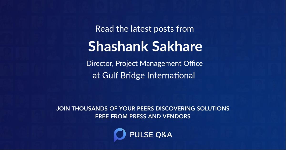 Shashank Sakhare