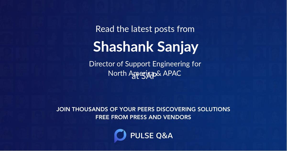 Shashank Sanjay