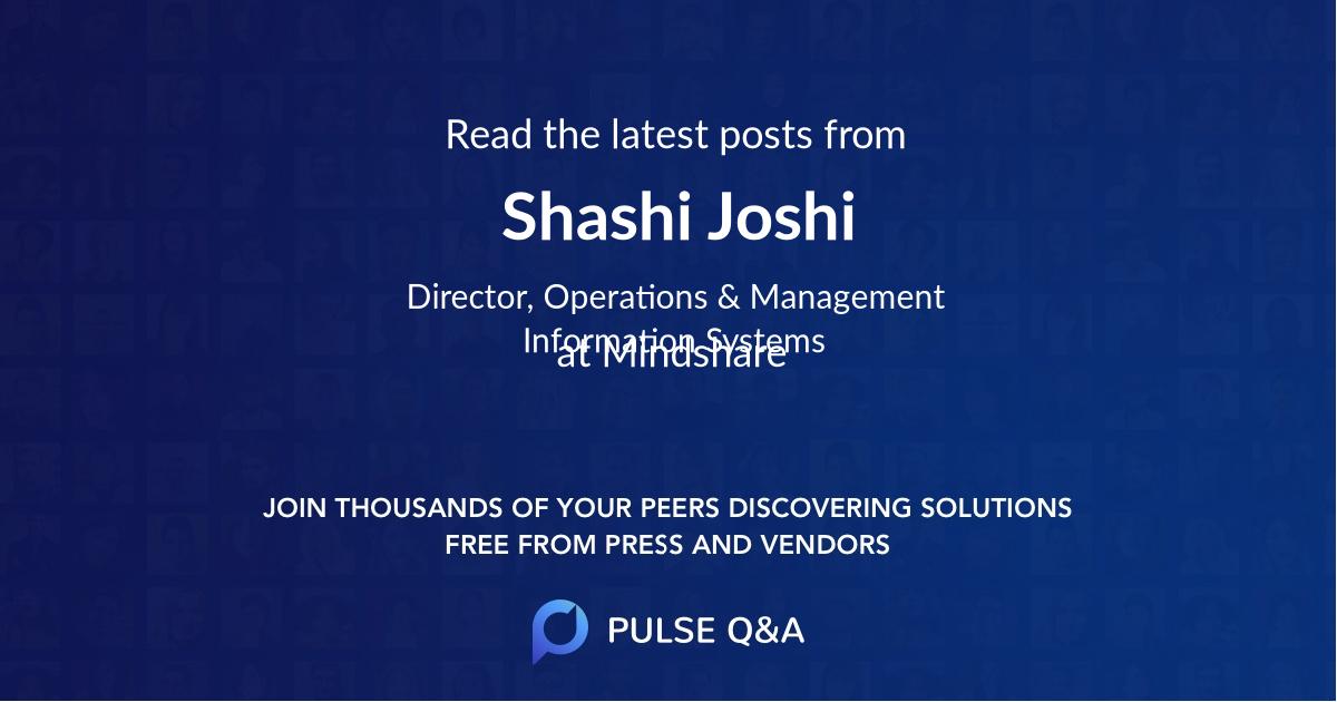 Shashi Joshi