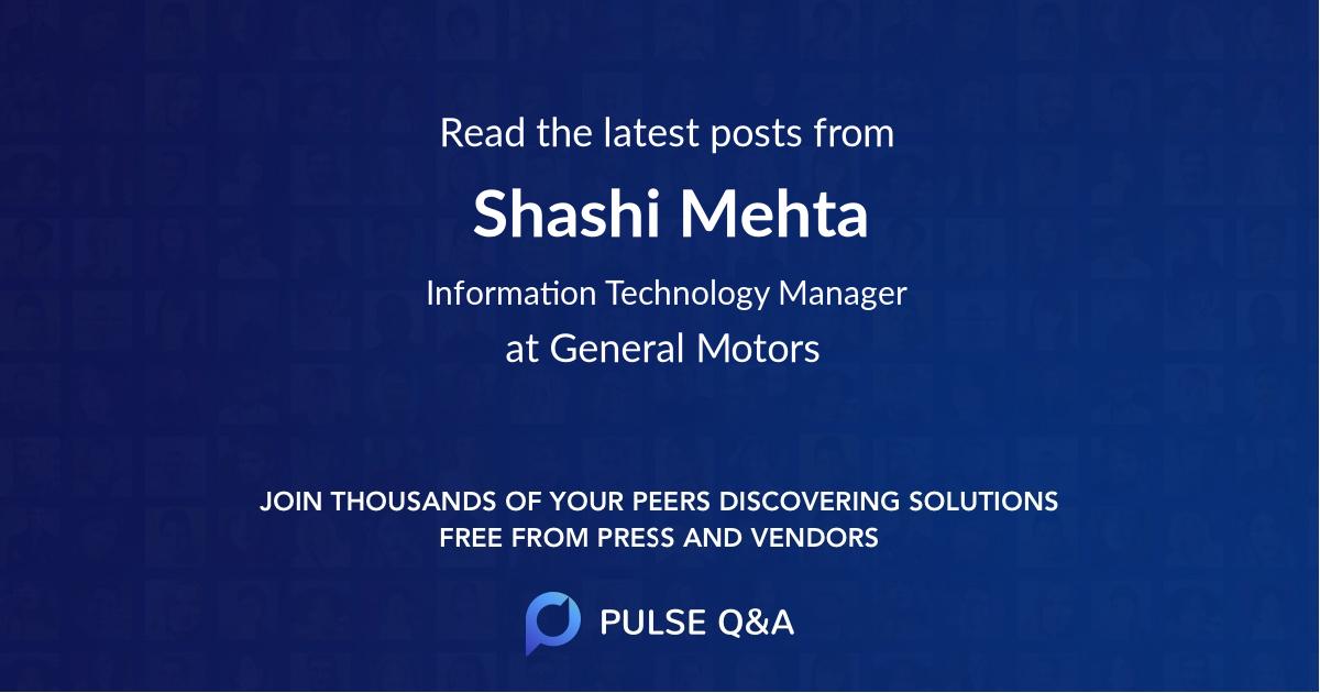 Shashi Mehta