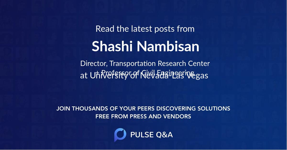 Shashi Nambisan