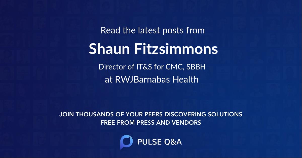 Shaun Fitzsimmons