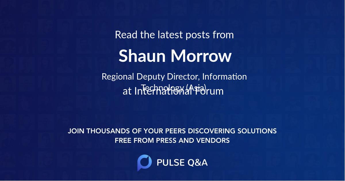 Shaun Morrow