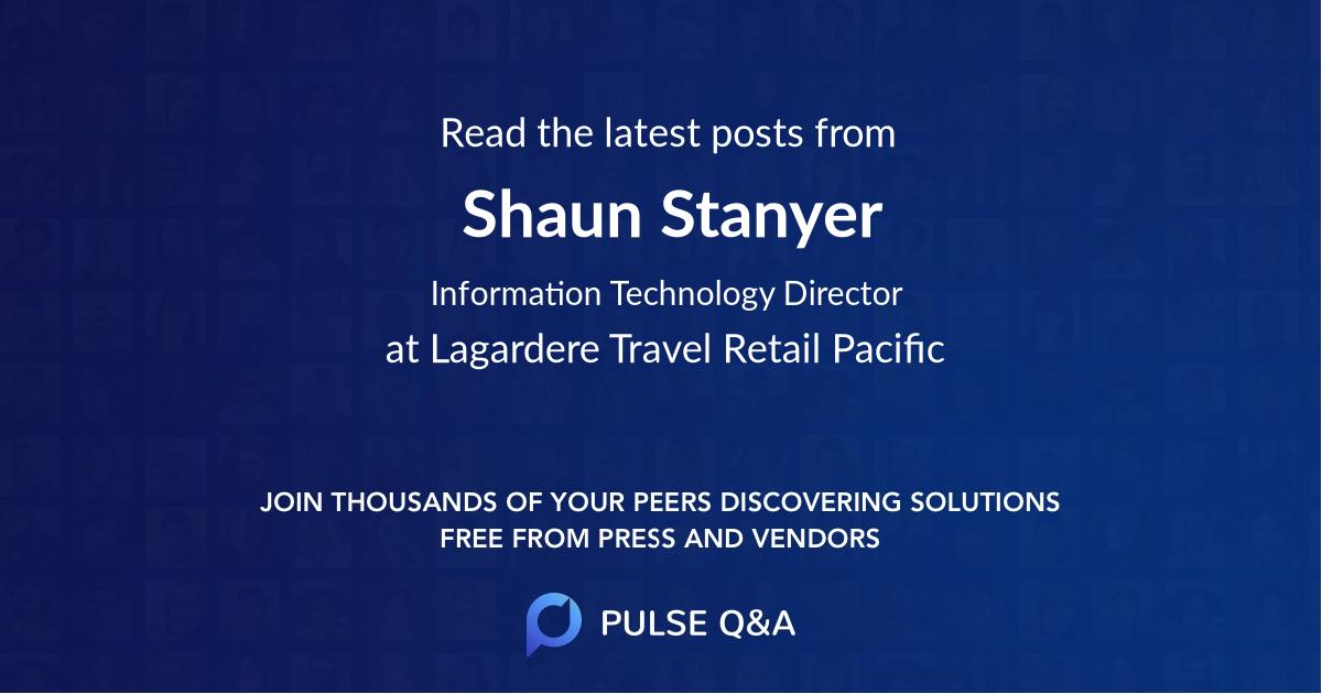Shaun Stanyer