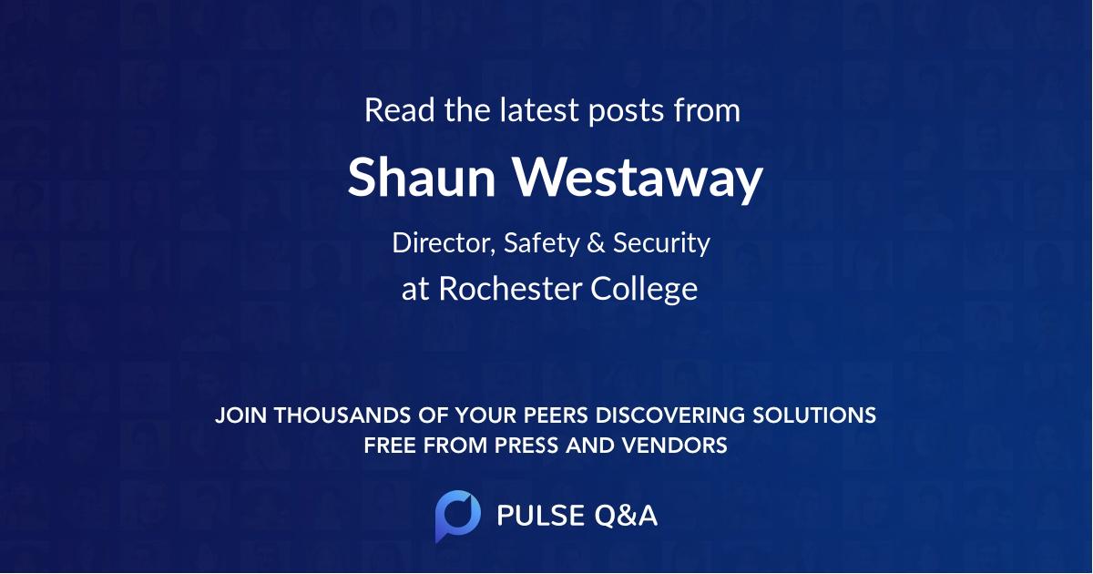 Shaun Westaway