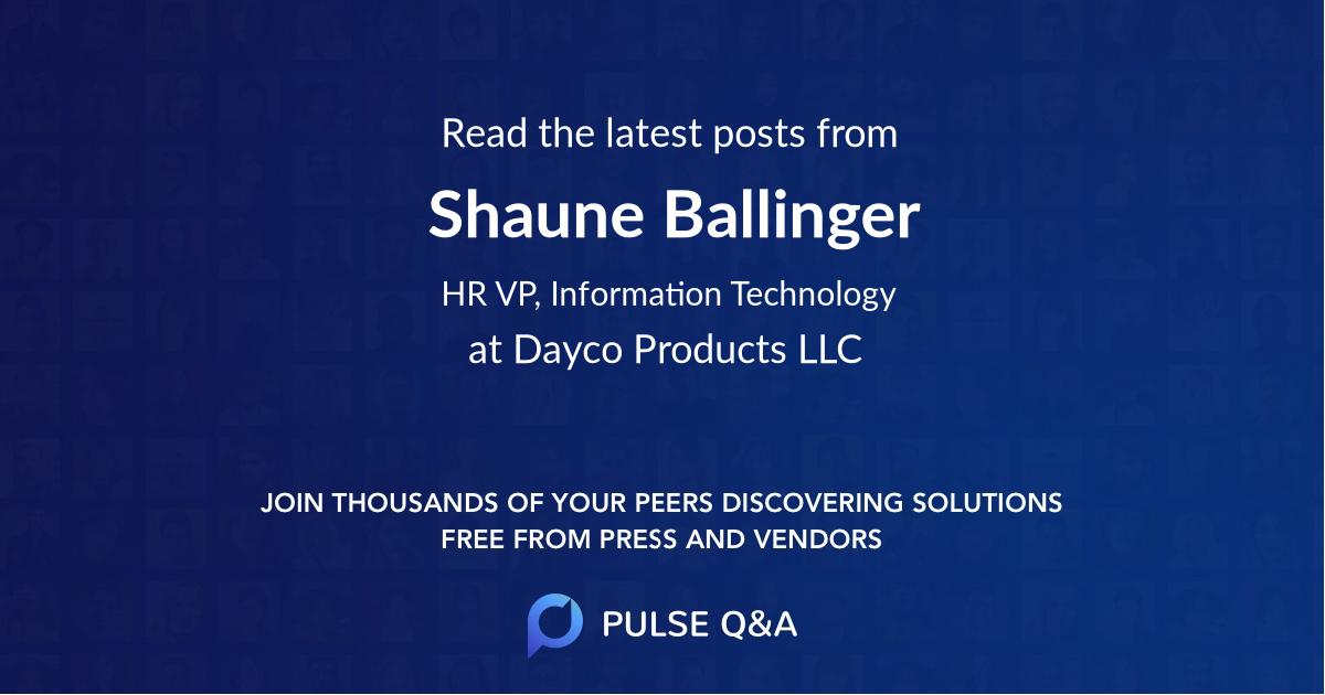 Shaune Ballinger