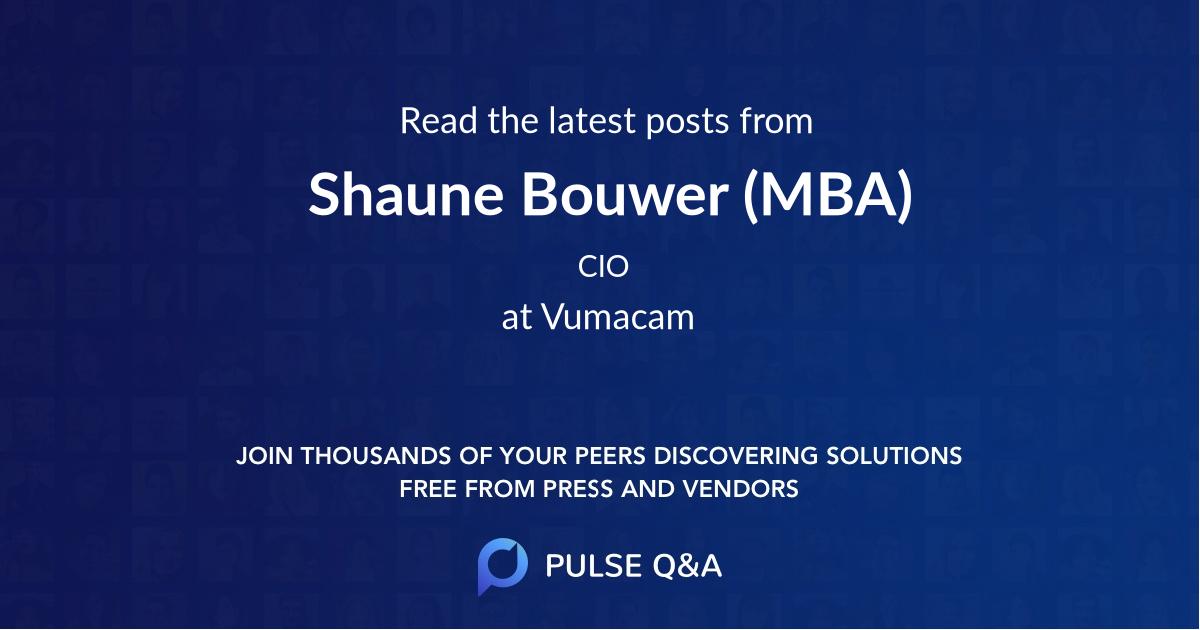 Shaune Bouwer (MBA)