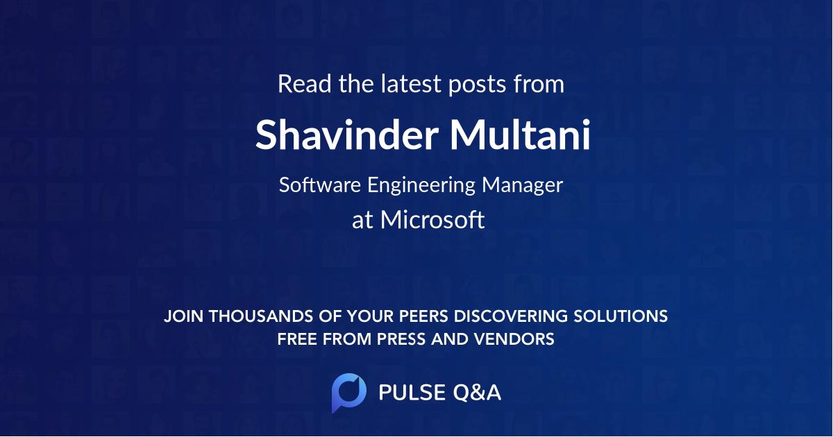 Shavinder Multani