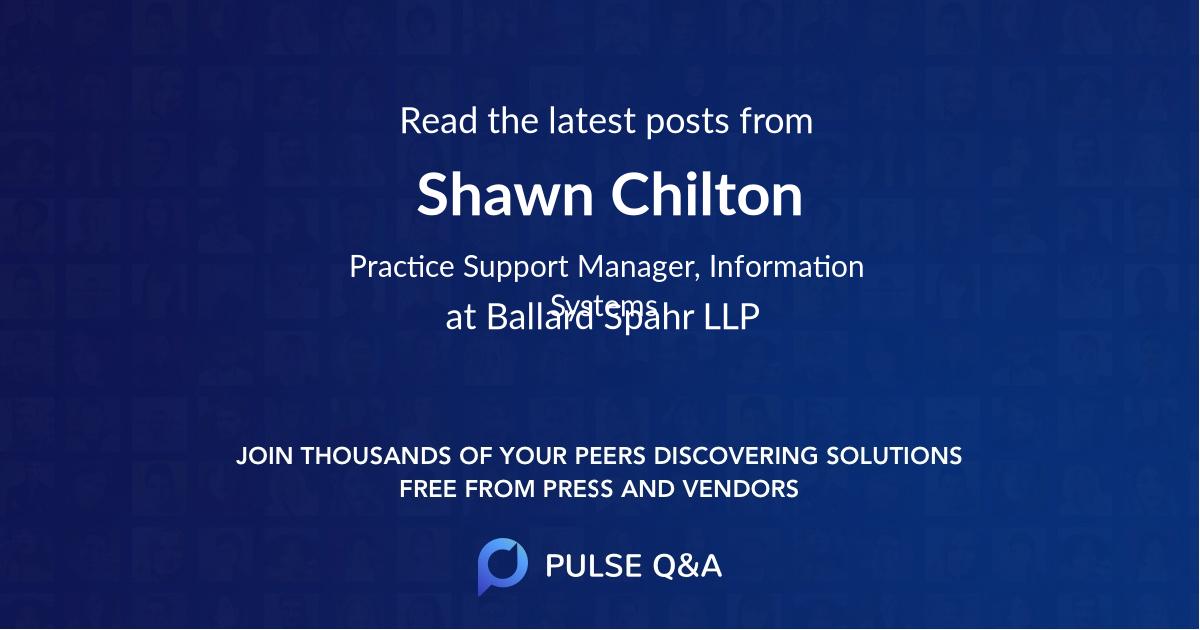 Shawn Chilton