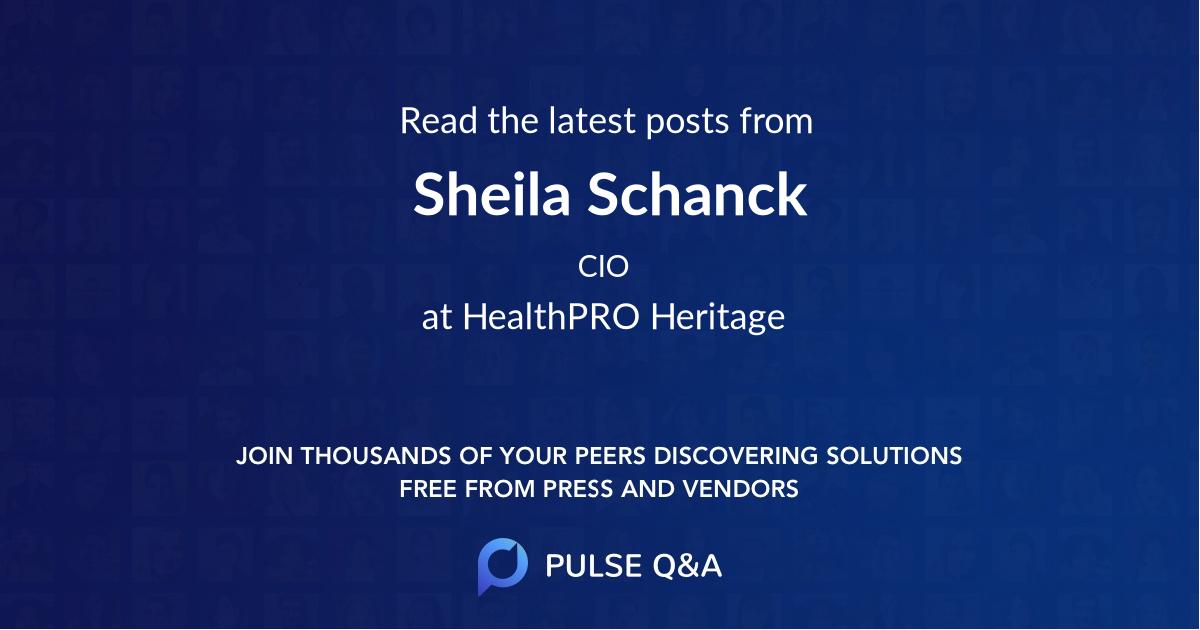 Sheila Schanck