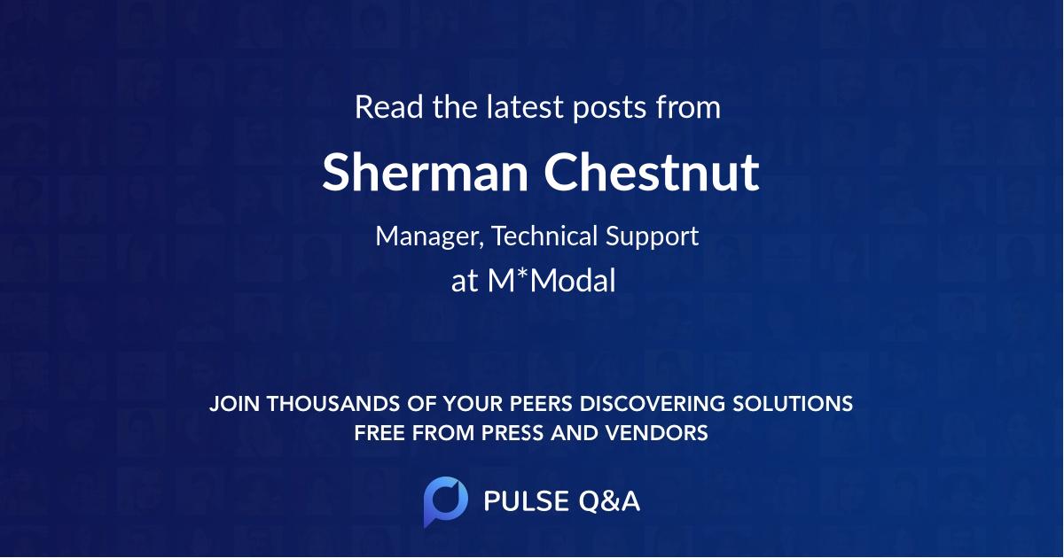 Sherman Chestnut
