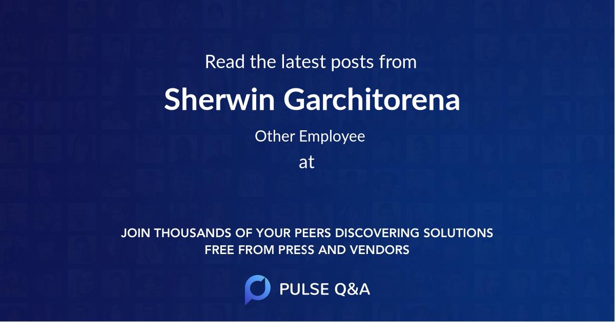 Sherwin Garchitorena