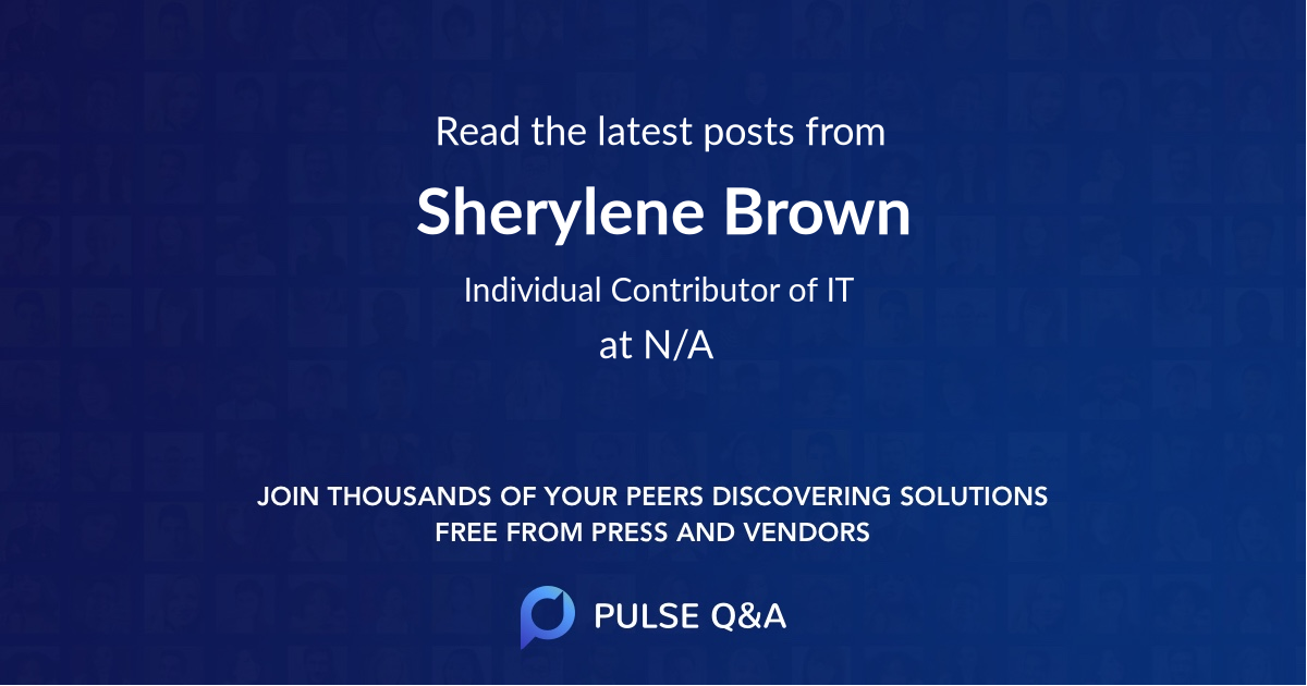 Sherylene Brown