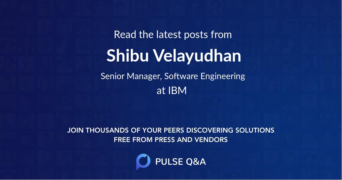 Shibu Velayudhan