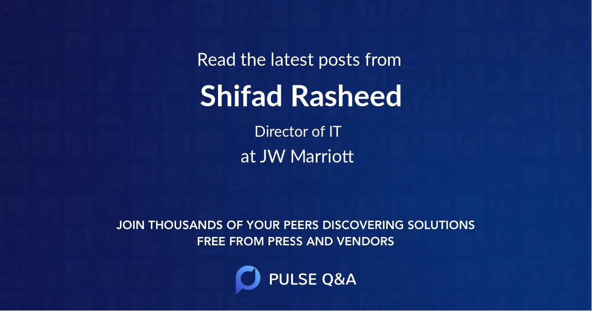 Shifad Rasheed