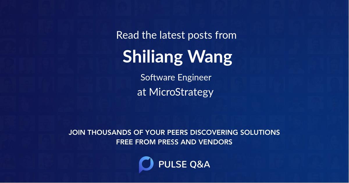 Shiliang Wang