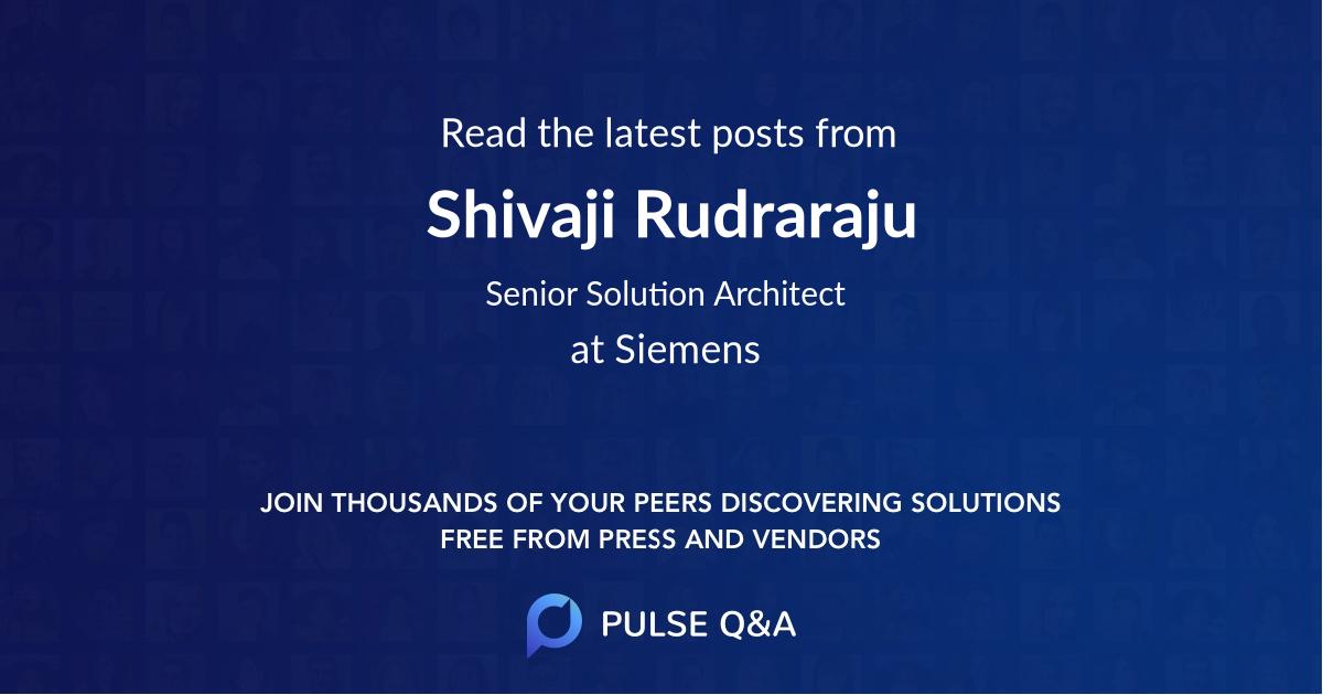 Shivaji Rudraraju