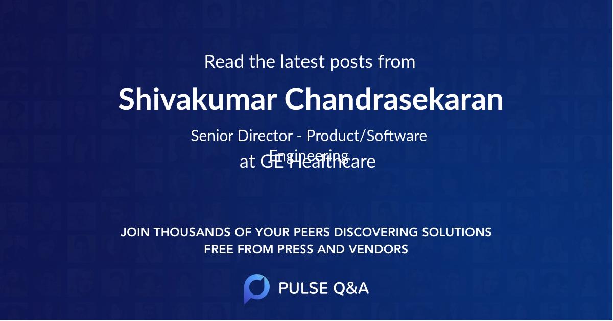 Shivakumar Chandrasekaran