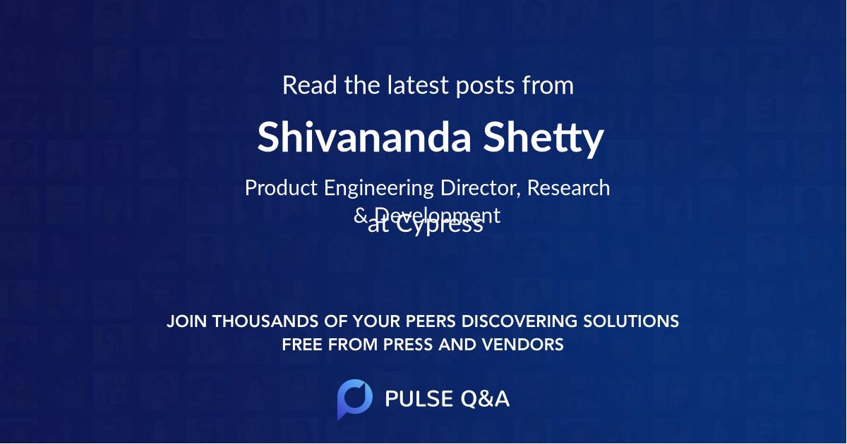 Shivananda Shetty