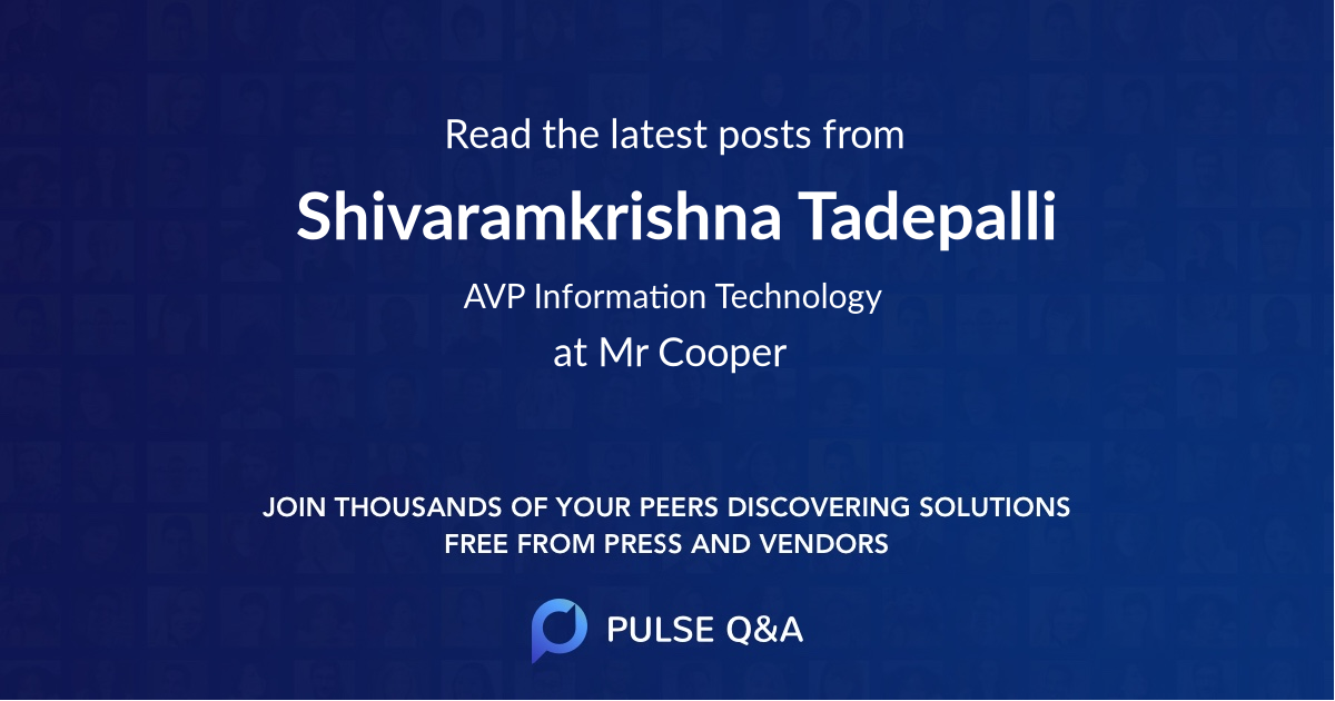 Shivaramkrishna Tadepalli
