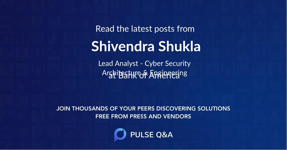 Shivendra Shukla