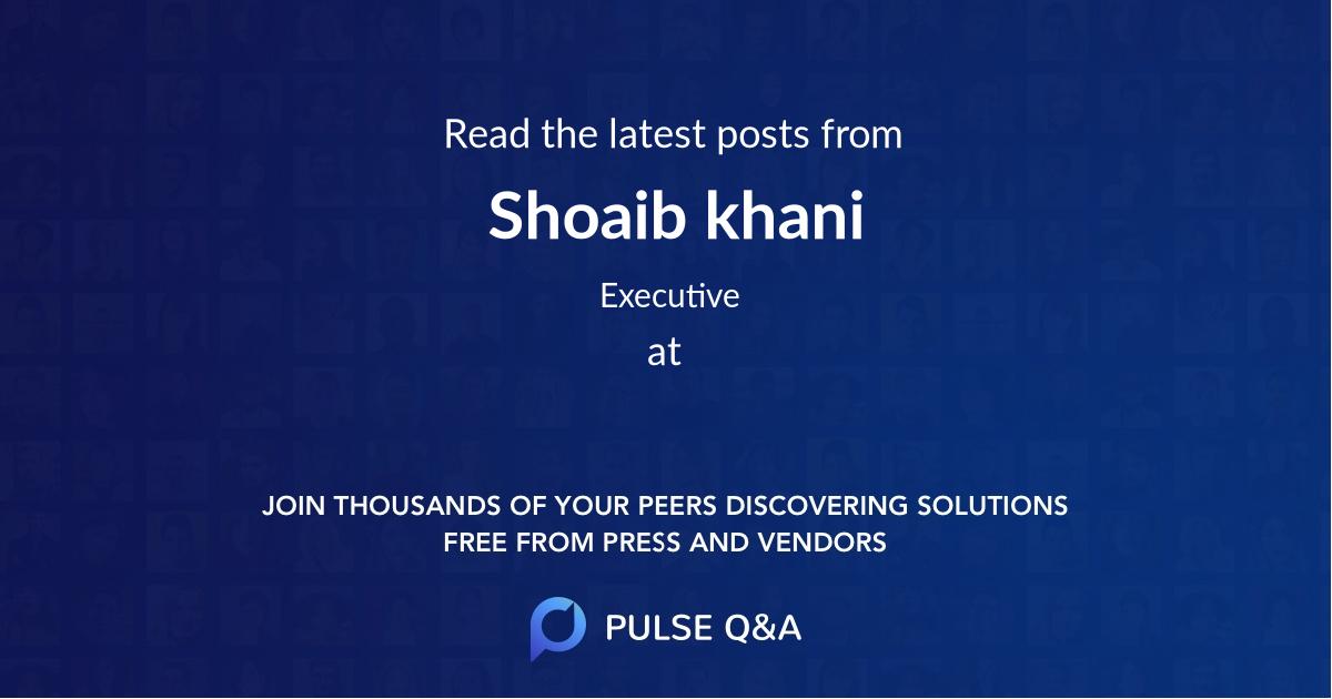 Shoaib khani