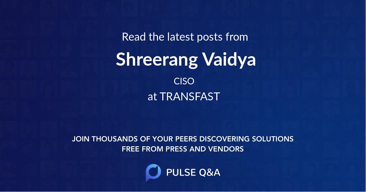 Shreerang Vaidya