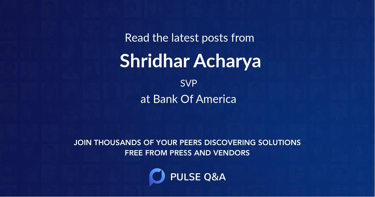Shridhar Acharya