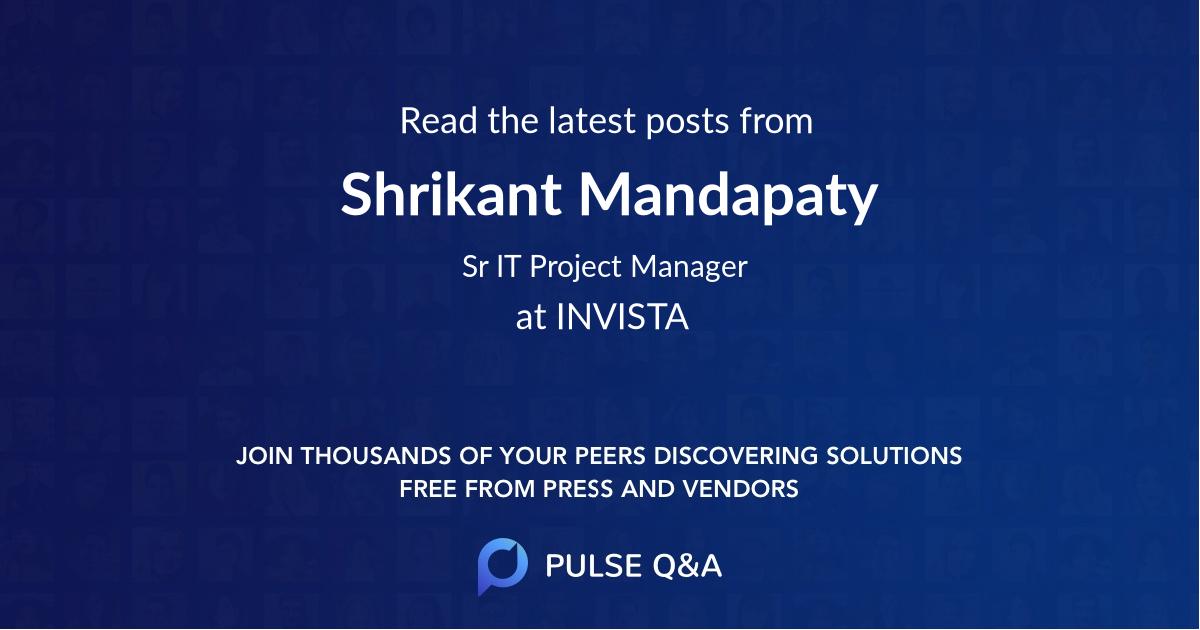 Shrikant Mandapaty