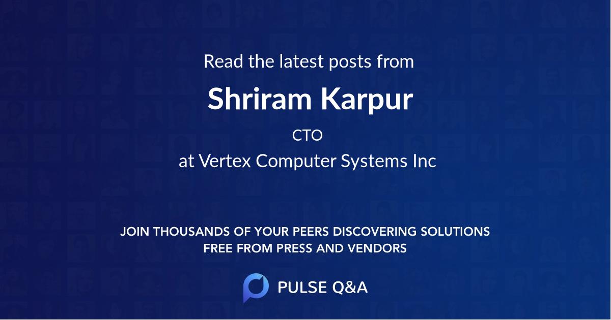 Shriram Karpur