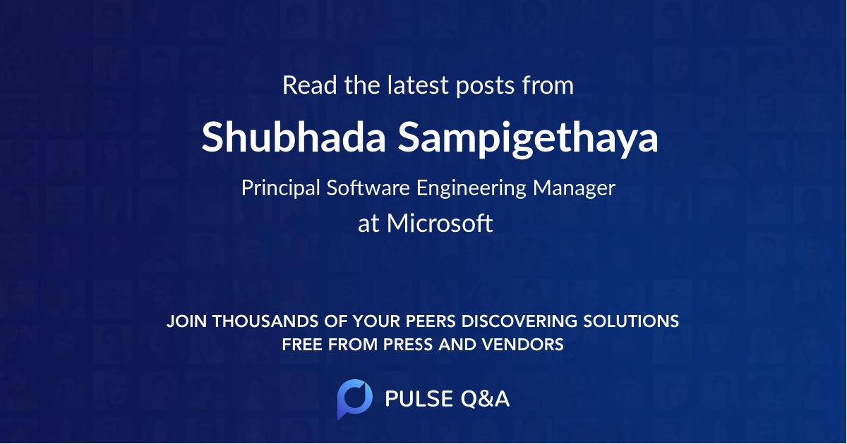 Shubhada Sampigethaya