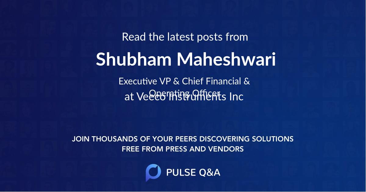 Shubham Maheshwari