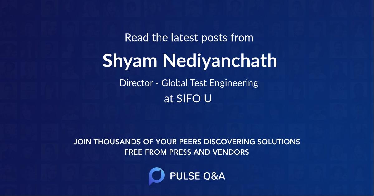 Shyam Nediyanchath