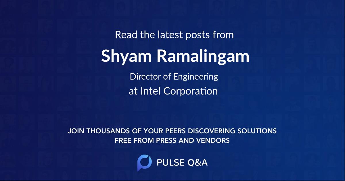Shyam Ramalingam