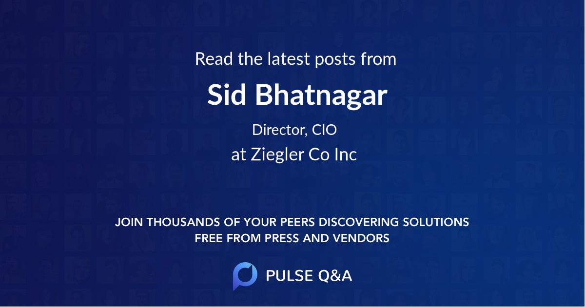 Sid Bhatnagar