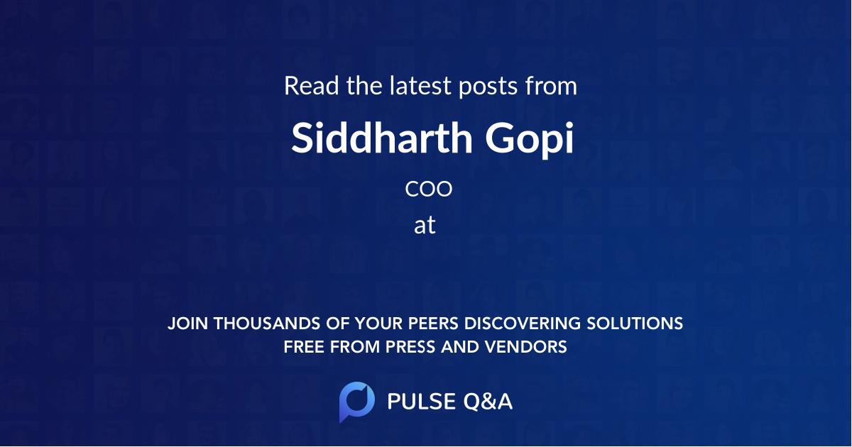 Siddharth Gopi