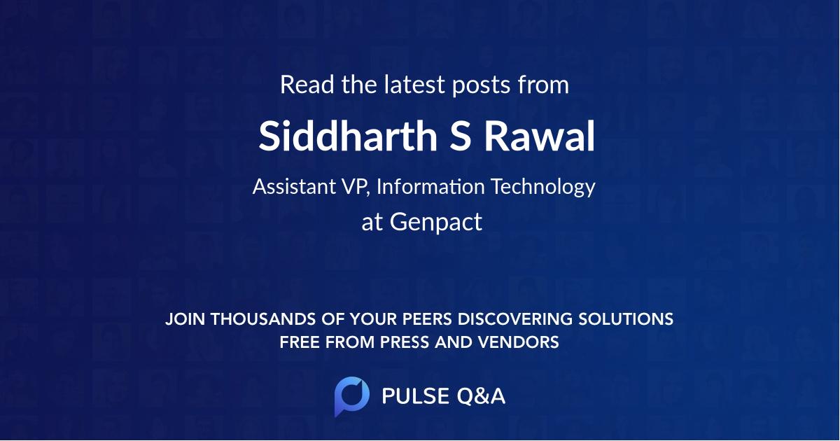 Siddharth S. Rawal
