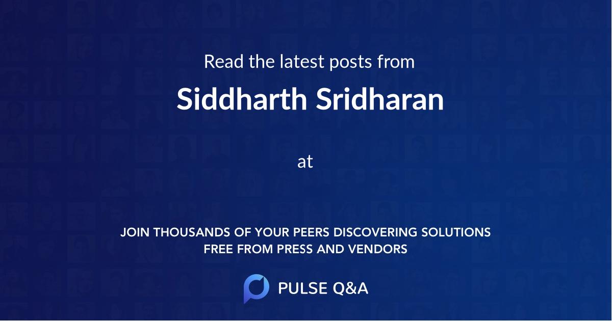 Siddharth Sridharan
