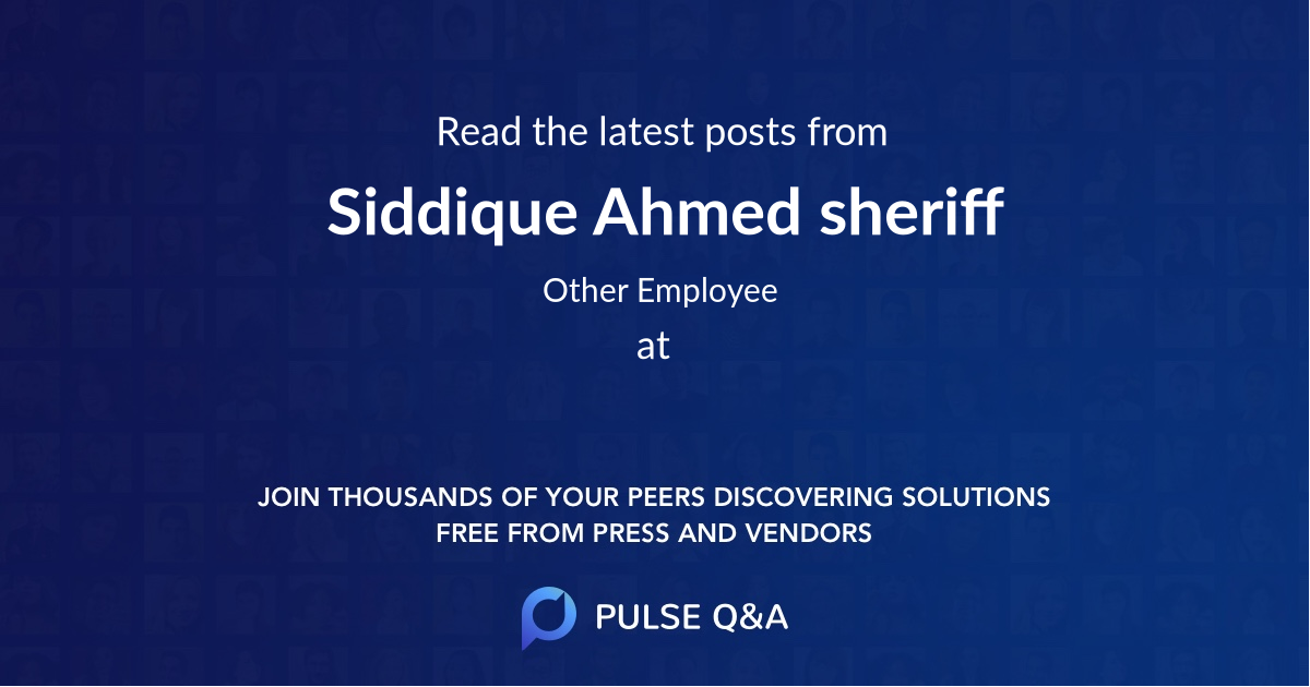 Siddique Ahmed sheriff