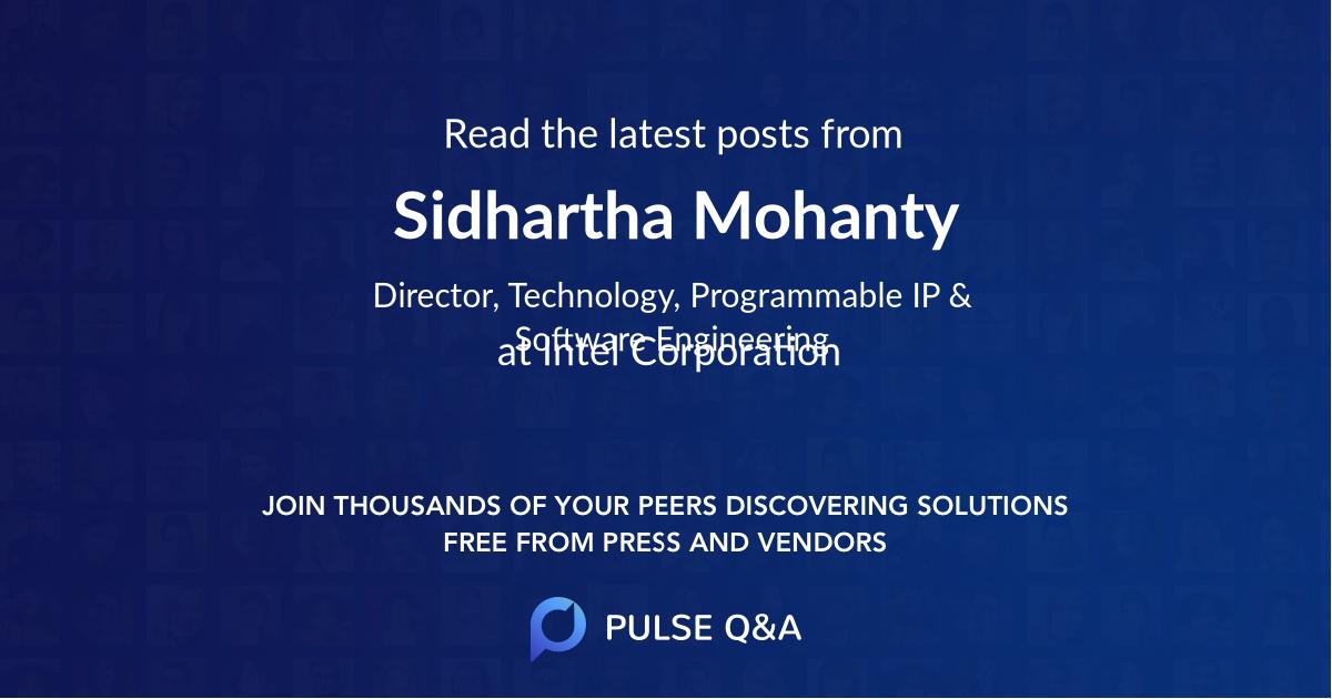 Sidhartha Mohanty