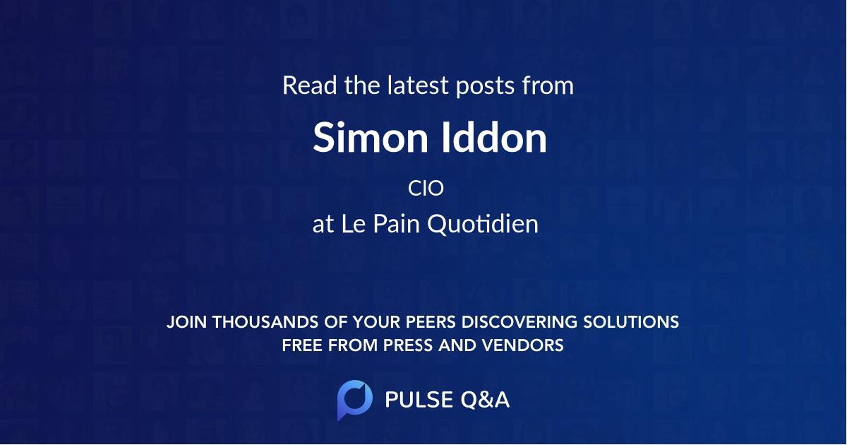 Simon Iddon