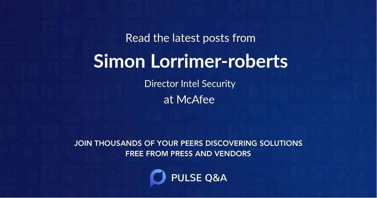 Simon Lorrimer-roberts