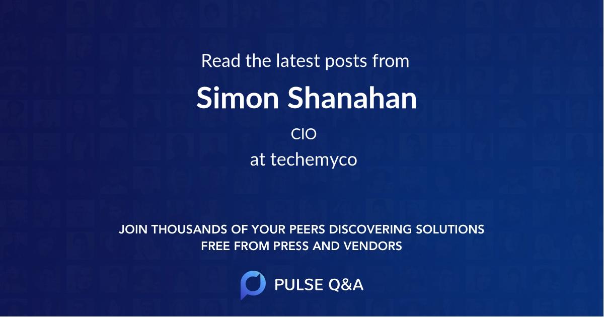 Simon Shanahan