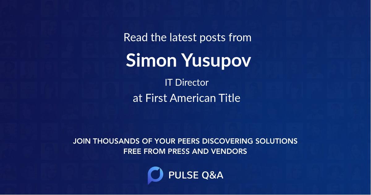 Simon Yusupov