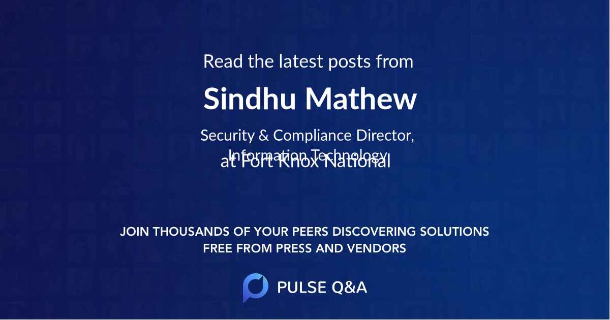 Sindhu Mathew