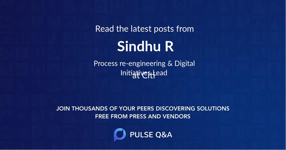 Sindhu R