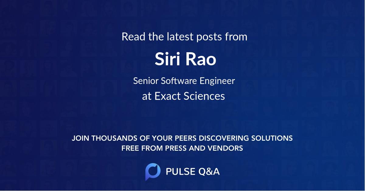 Siri Rao