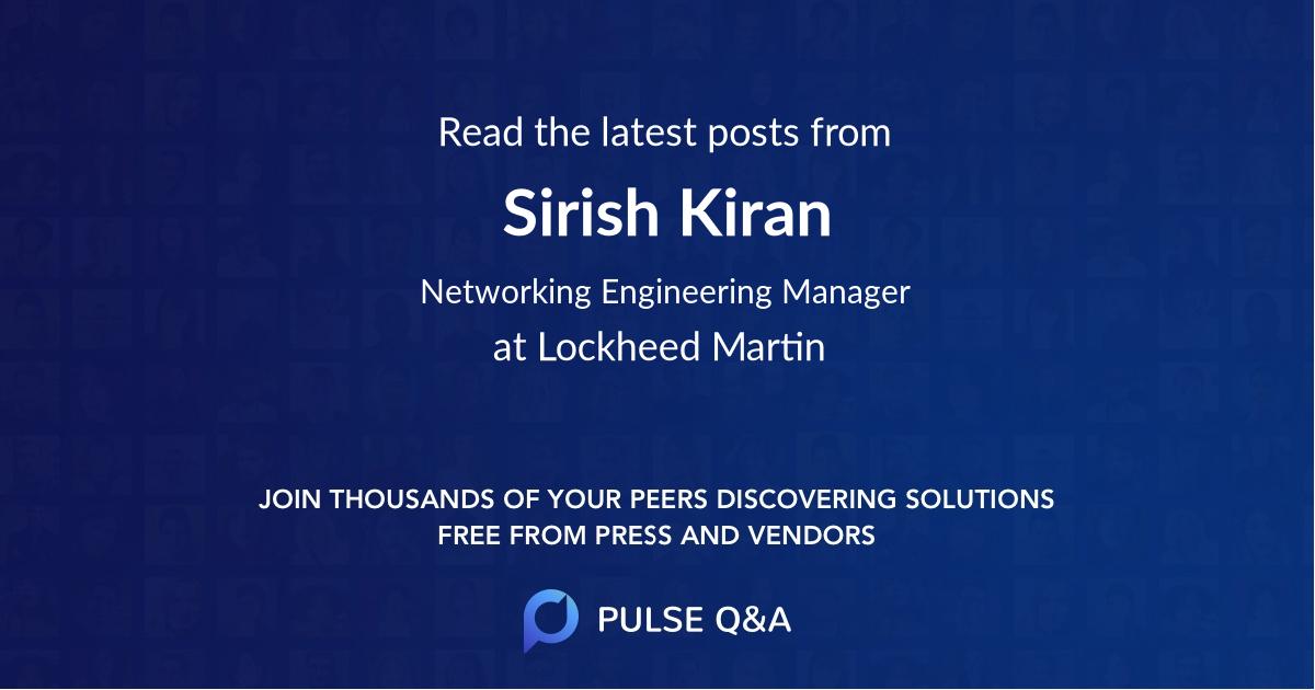 Sirish Kiran