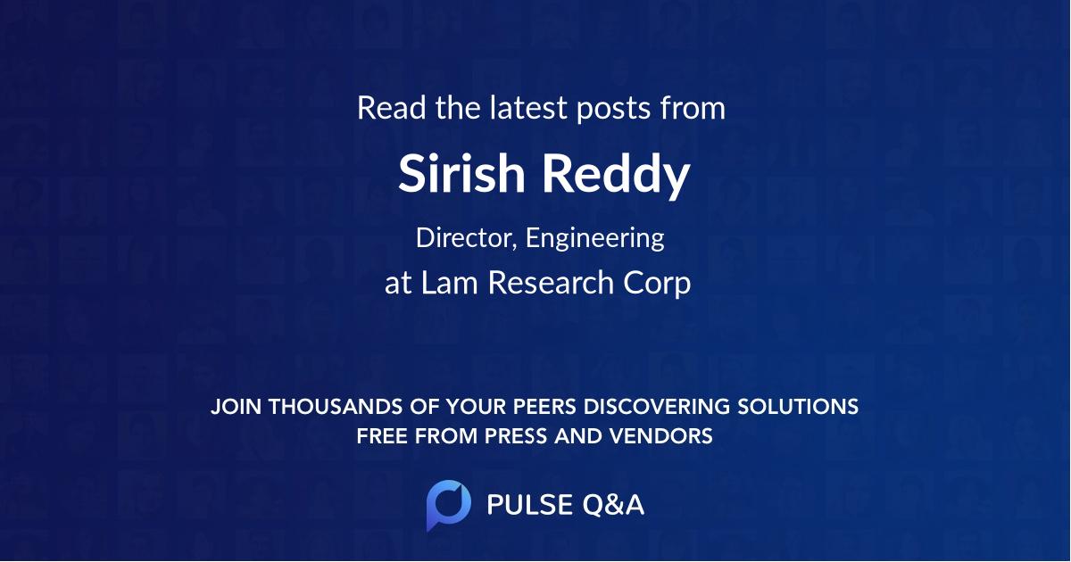 Sirish Reddy